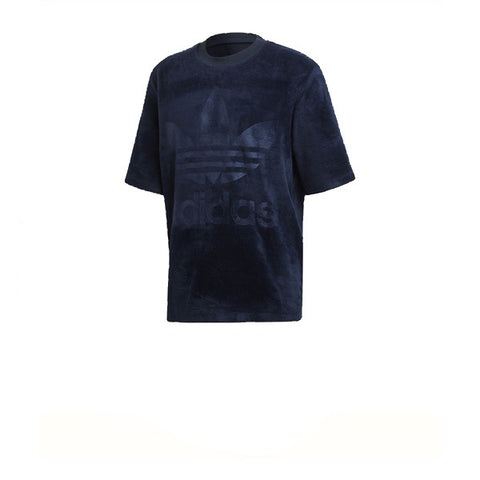 Adidas Velour Tee Core Navy