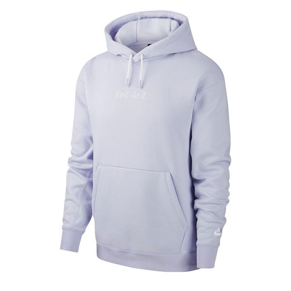Nike Just Do It Hoodie Po Fleece Lavender Mist White