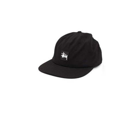 Stussy Rubber Patch Low Pro Cap Black