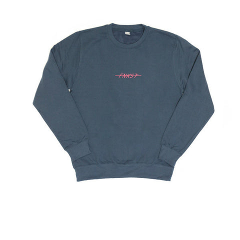 FNKST EMB Basic Logo Sweat Air Force Blue - Kong Online - 1