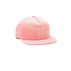 Obey Repitition II Snapback Pink