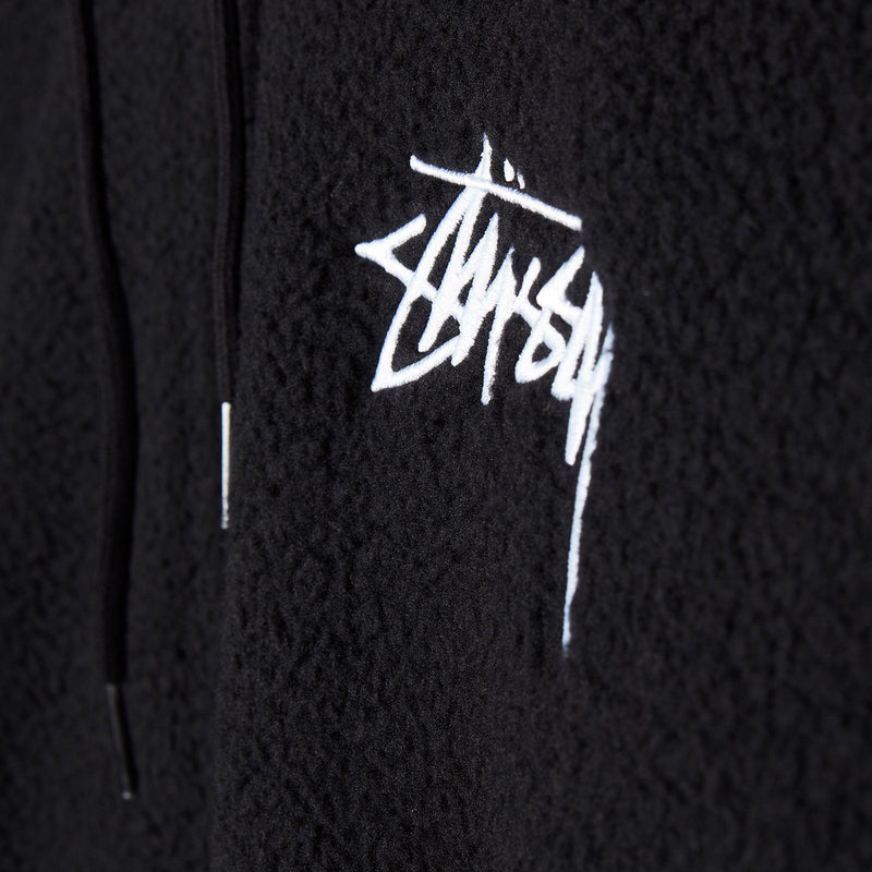 Stussy Bronson Polar Fleece Hood Black