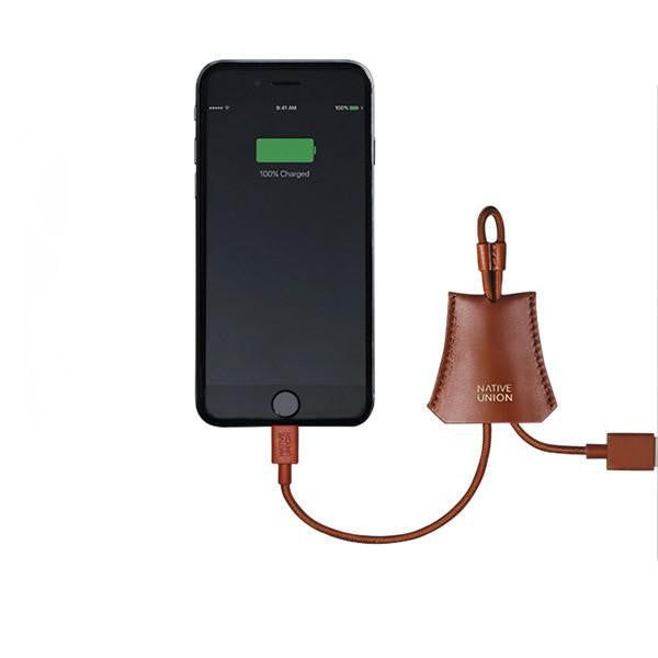 Native Union Lightning Cable With Leather Pouch Tan - Kong Online - 3