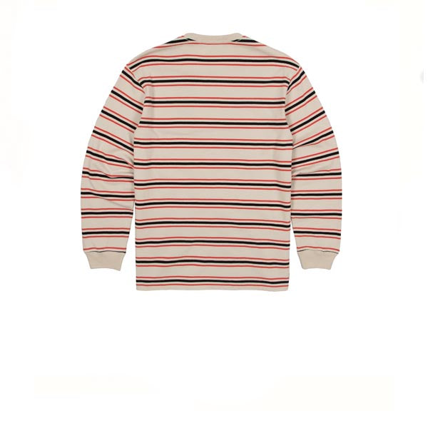 Maharishi Maha Eagle L/S Striped T-Shirt Ecru
