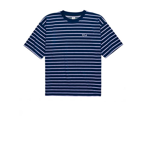 Polar Striped Terry Surf Tee Navy Violet