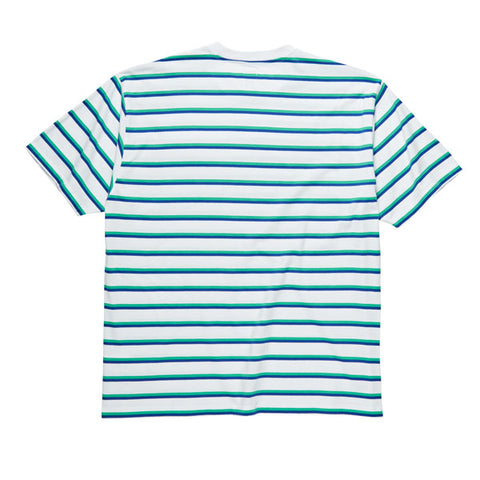 Polar Stripe Pocket Tee White