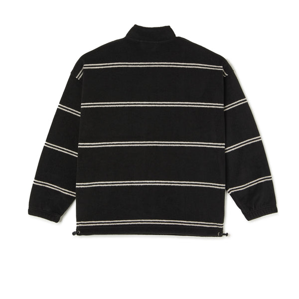 Polar Stripe Fleece Pullover Black