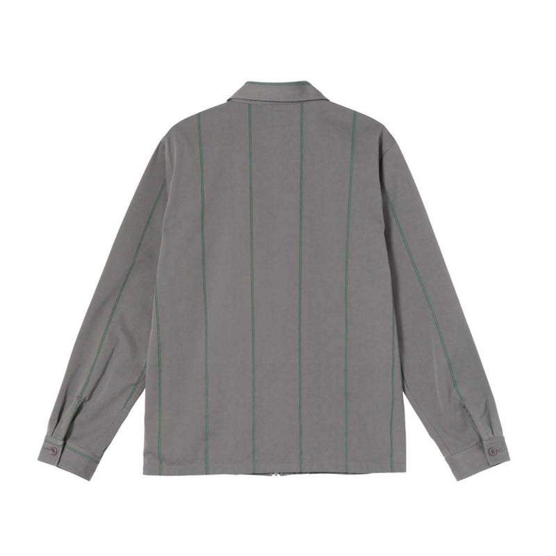 Stussy Full Zip LS Work Shirt Grey