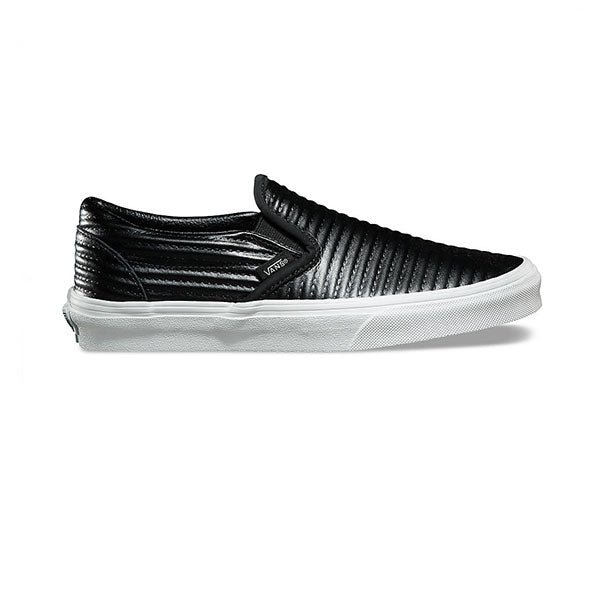 Vans Classic Slip-On (Moto Leather) Black