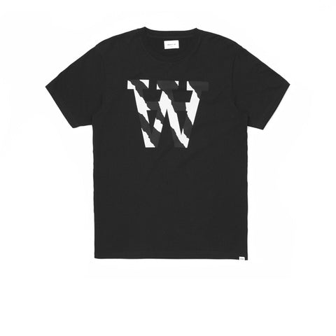WOOD WOOD AA Two Tones T-Shirts Black