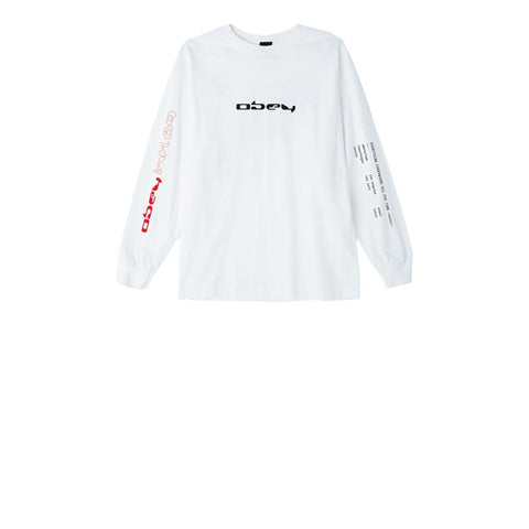 Obey Computer Controlled L/S Tee White
