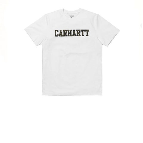 Carhartt S/S College T-Shirt White Tiger Camo Laurel