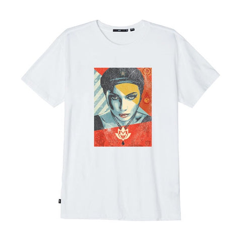 Obey Oil Lotus Woman White