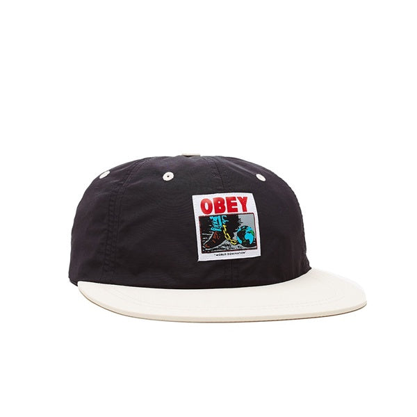 Obey Inconvenient 6 Panel Strapback Black