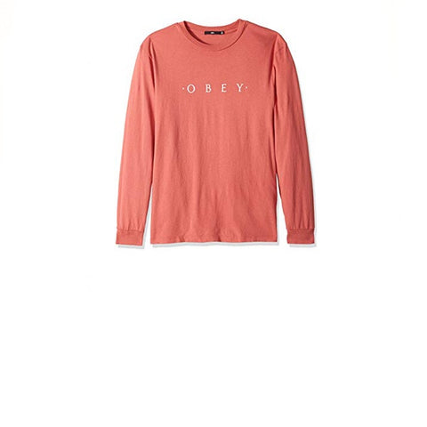Obey Novel Obey L/S Tee White