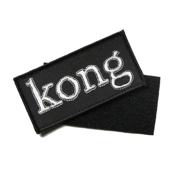 Kong Box Logo Velcro Patch Black