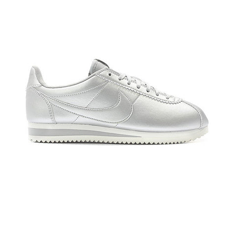 Nike W Classic Cortez Leather Matallic Silver - Kong Online