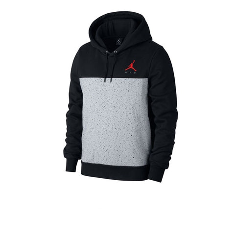Air Jordan Flight Fleece Cement Pullover Hoodie Black