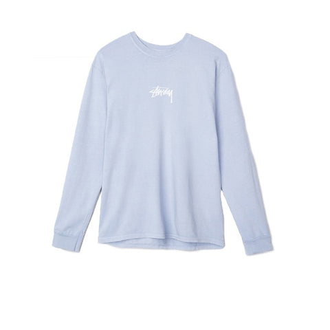Stussy Stock Pig Dyed L/S Tee Baby Blue