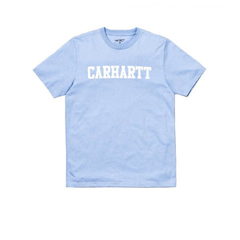 Carhartt S/S College T-Shirt Soft Blue White