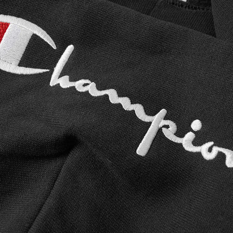 Champion Script Hooded Full Zip Sweatshirt Black