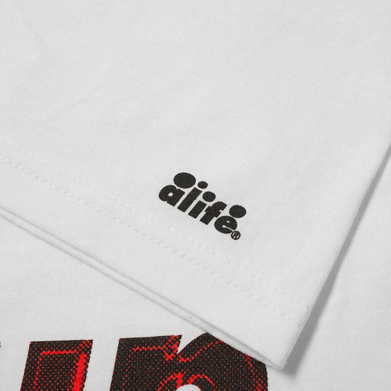ALIFE 2 Tone Bubble Graphic Tee White