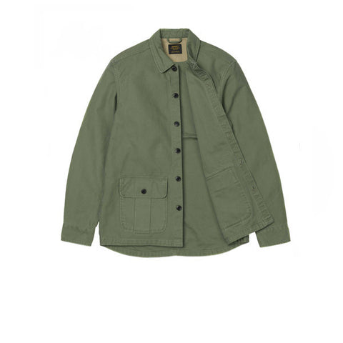 Carhartt Anson Shirt Jac Dollar Green Stone Washed