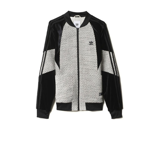 Adidas Track Top White Black - Kong Online