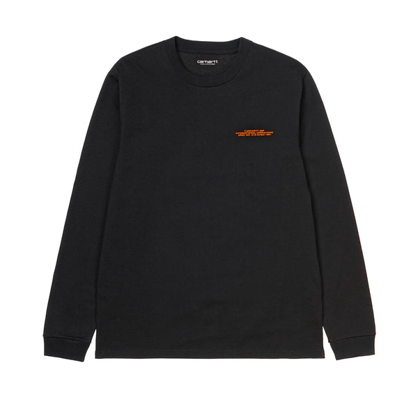 Carhartt WIP L/S International Operations Tee Black/Orange