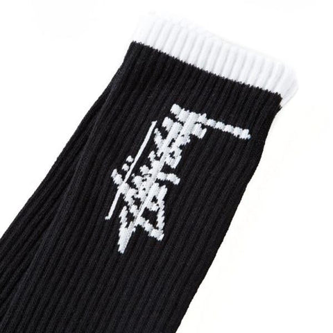 Stussy Stock Socks Black White