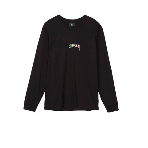 Stussy Smooth Stock Emb L/S Tee Black