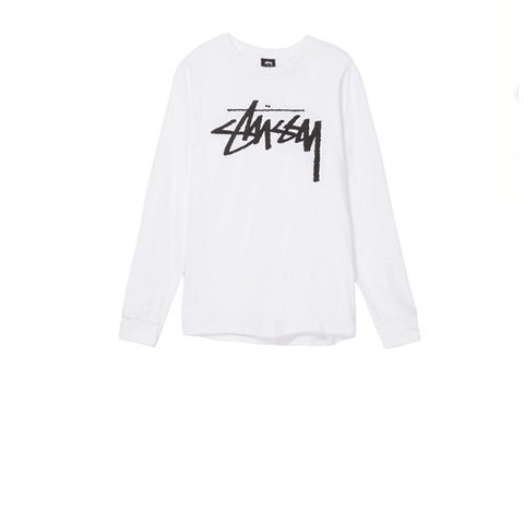 Stussy Old Stock LS Tee White