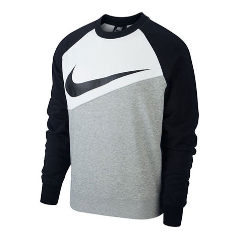 Nike Swoosh Crew Dark Grey White Black