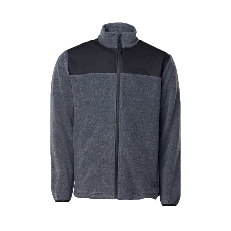 Rains Fleece Zip Puller Grey Melange