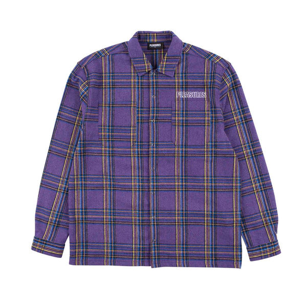 Pleasures Widow Heavyweight Flannel Purple