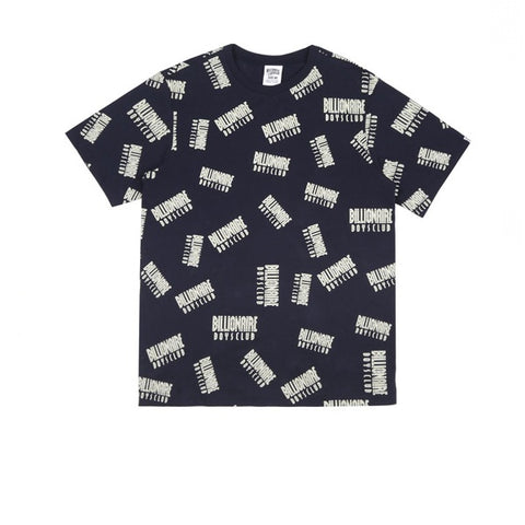 BBC Repeat Print T-Shirt Dress Blue