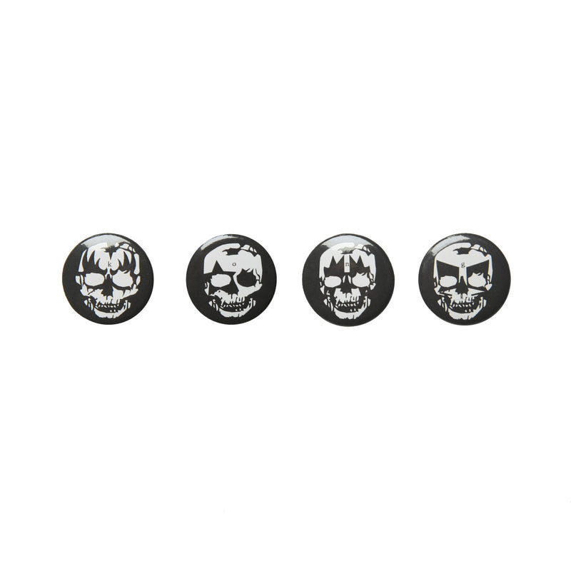 Kong Skulls Badge (4 Pack) Black