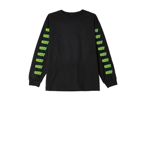 Obey Better Days L/S Tee Black