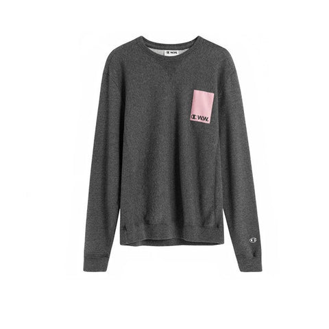 Champion x WOOD WOOD Crewneck Sweat Dark Grey