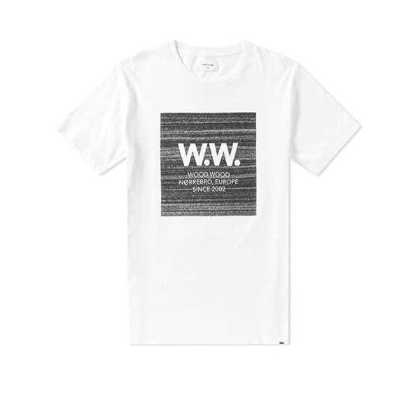 WOOD WOOD WW Square T-Shirt White - Kong Online - 1