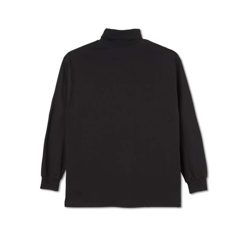 Polar Script Turtleneck Longsleeve Black