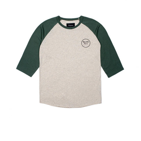Brixton Wheeler Off 3/4 Sleeve Oatmeal