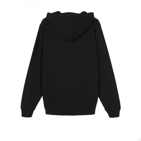 Stussy Chenille Crown App Hood Black