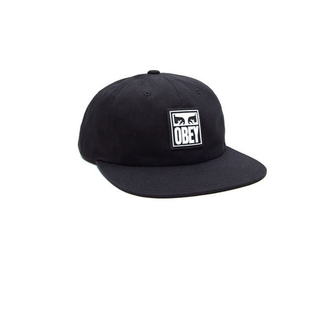 eccb4af834b Obey Vanish 6 Panel Snapback Black