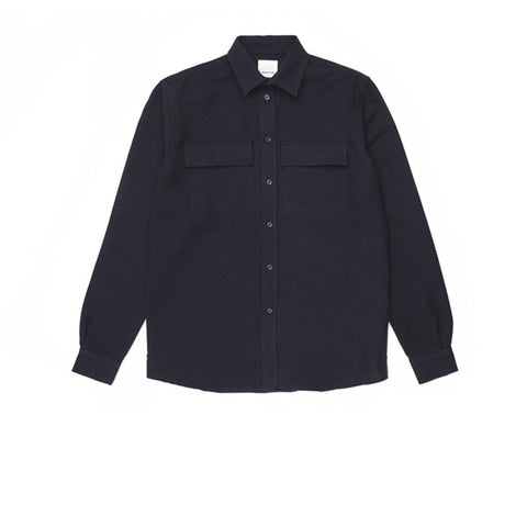 WOOD WOOD Barking Shirt Navy