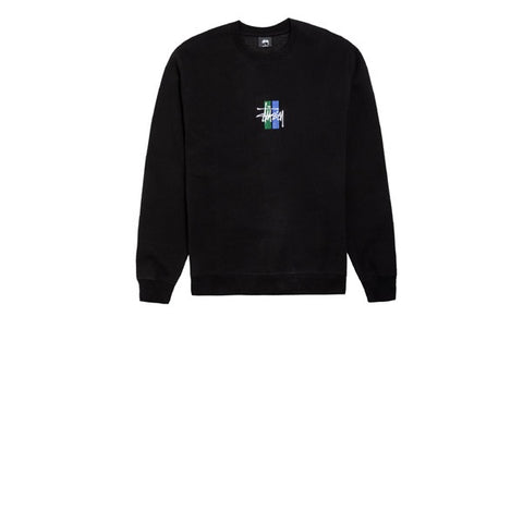 Stussy 2 Bar Stock App Crew Black