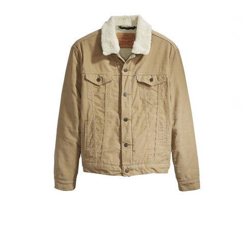 Levis The Sherpa Trucker Jacket Chino Corduroy