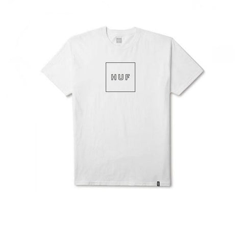 HUF Box Logo Puff Tee White