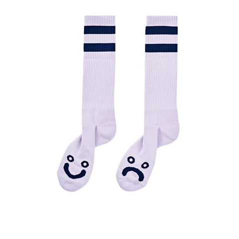 Polar Happy Sad Classic Sock Lavender