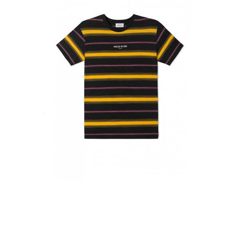 WOOD WOOD Perry T-Shirts Yellow Stripe